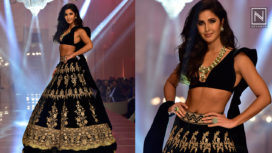 Katrina Kaif Turns Perfect Muse to Manish Malhotra at Lakme Fashion Week WF19