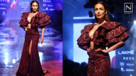 Malaika Arora Bedazzles as the Showstopper for DiyaRajvvir at LFW WF 2019