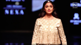 Mrunal Thakur Turns Perfect Muse to Label Aavaran Udaipur at LFW Winter Festive 2019