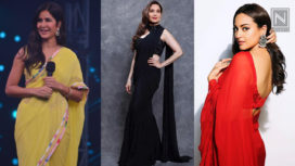 Bollywood Divas Nailing their Classic Sari Looks in Solid Colours