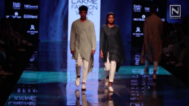 Antar-Agni Collection Showcase for Sustainable Day at LFW Winter Festive19