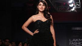 Rhea Chakraborty Stuns as a Showstopper for Ambika Lal at Lakme Fashion Week WF19
