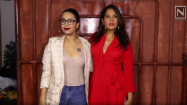 Richa Chadha and Swara Bhasker at Section 375 Screening