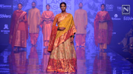 Gaurang Gives Ode to Historic Textiles with Peshwai at Lakme Fashion Week WF19