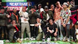 Varun Dhawan with Street Dancer Team at Hip-Hop Dance Festival