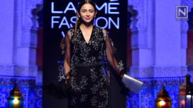Rakul Preet Glides the Ramp for Nachiket Barve at Lakme Fashion Week Winter Festive 19