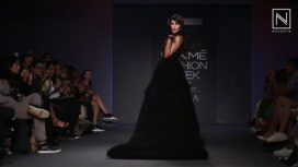 Rhea Chakraborty Stuns as the Showstopper for Ambika Lal at Lakme Fashion Week WF19
