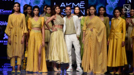 Shilpa Shetty Stuns as the Showstopper for Punit Balana at Lakme Fashion Week WF19