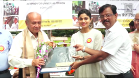 Shamita Shetty Attends the Special Walkathon on International Day of Older Persons