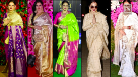 Celebrating Rekha's Birthday with her Top 5 Glamorous Sari Looks