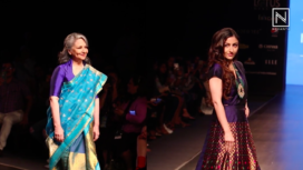Soha Ali Khan and Sharmila Tagore Turn Showstoppers for Sanjukta Dutta at LMIFW SS20