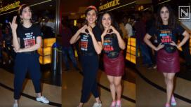 B-Town Stars Attend the Screening of the Movie Saand Ki Aankh