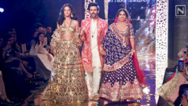 Ananya Panday, Bhumi Pednekar and Kartik Aaryan for Abu Jani Sandeep Khosla Show
