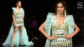 Shibani Dandekar Turns Muse to Yogita Kadam at Lotus Makeup India Fashion Week SS20