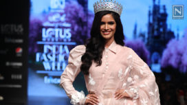 Vartika Singh Walks for Parul & Ashie at Lotus Makeup India Fashion Week SS20