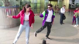 Deepika Padukone and Kartik Aaryan Take the Dheeme Dheeme Challenge at the Airport