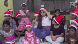 Mouni Roy Shares the Joy of Christmas with Kids