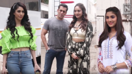 Star Cast of the Movie Dabangg 3 on the Promotional Spree