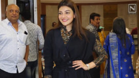 Kajal Agarwal Attends the Inauguration Event of an Art Gallery in Style