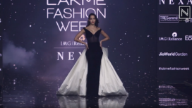 Nora Fatehi Turns Showstopper for Gauri and Nainika at Lakme Fashion Week SR 20