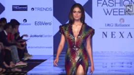 Malavika Mohanan Stuns as a Showstopper for Tanieya Khanuja at Lakme Fashion Week SR 20