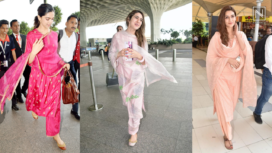 Bollywood Beauties Serve Fashion Goals as they Sports Ethnic Suits at the Airport