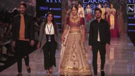 Saiee Manjrekar Stuns as a Showstopper for Jiviva at Lakme Fashion Week SR 20