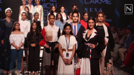 Neha Dhupia Turns Showstopper for INIFD Launchpad at LFW SR20
