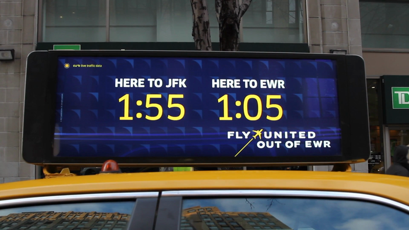 United Airlines Real Time Data Taxi Top Campaign