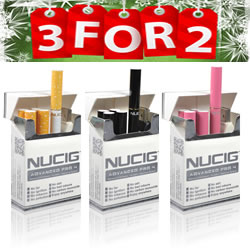 3 for 2 Electronic Cigarette, electric cigarette NUCIG Advanced PRO 4 - USB Real Look Set