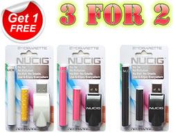3 for 2 electronic cigarette, White mini kit, NUCIG