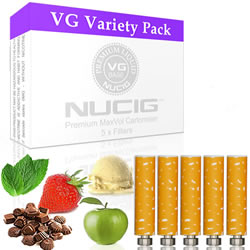 NUCIG Sampler Variety Cartomiser Pack