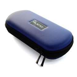 A NUCIG Ego carry storage case blue colour.