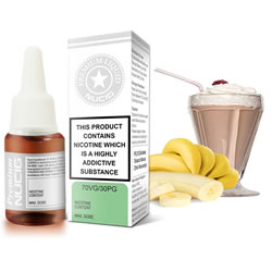 NUCIG 70VG/30PG E liquid Chocolate Banana Flavour