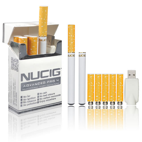 Electronic Cigarette, electric cigarette NUCIG Advanced PRO 4 - USB Real Look Set