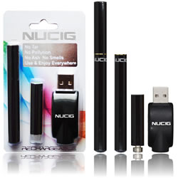 electronic cigarette, Black mini kit NUCIG