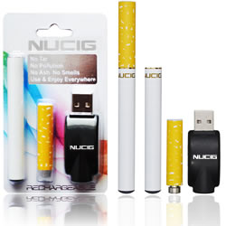 electronic cigarette, White mini kit, NUCIG