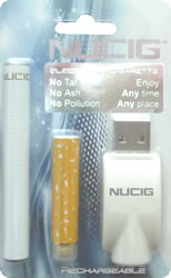 electronic cigarette, white real look kit,NUCIG