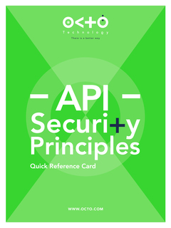 Octo refcard api security bd