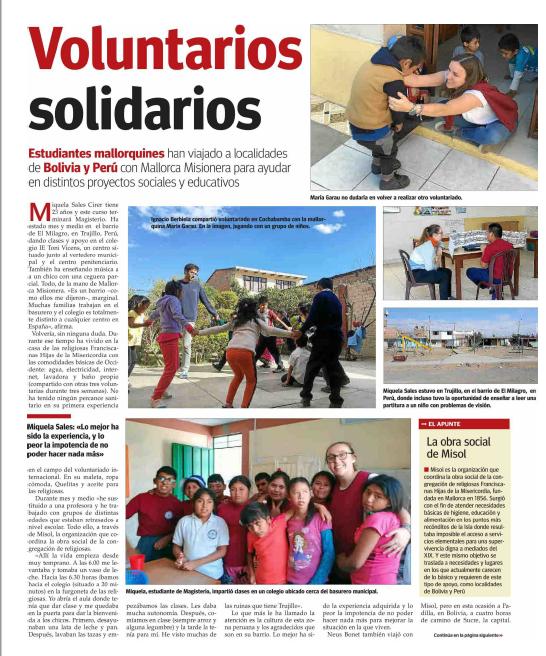 Reportaje sobre voluntariado