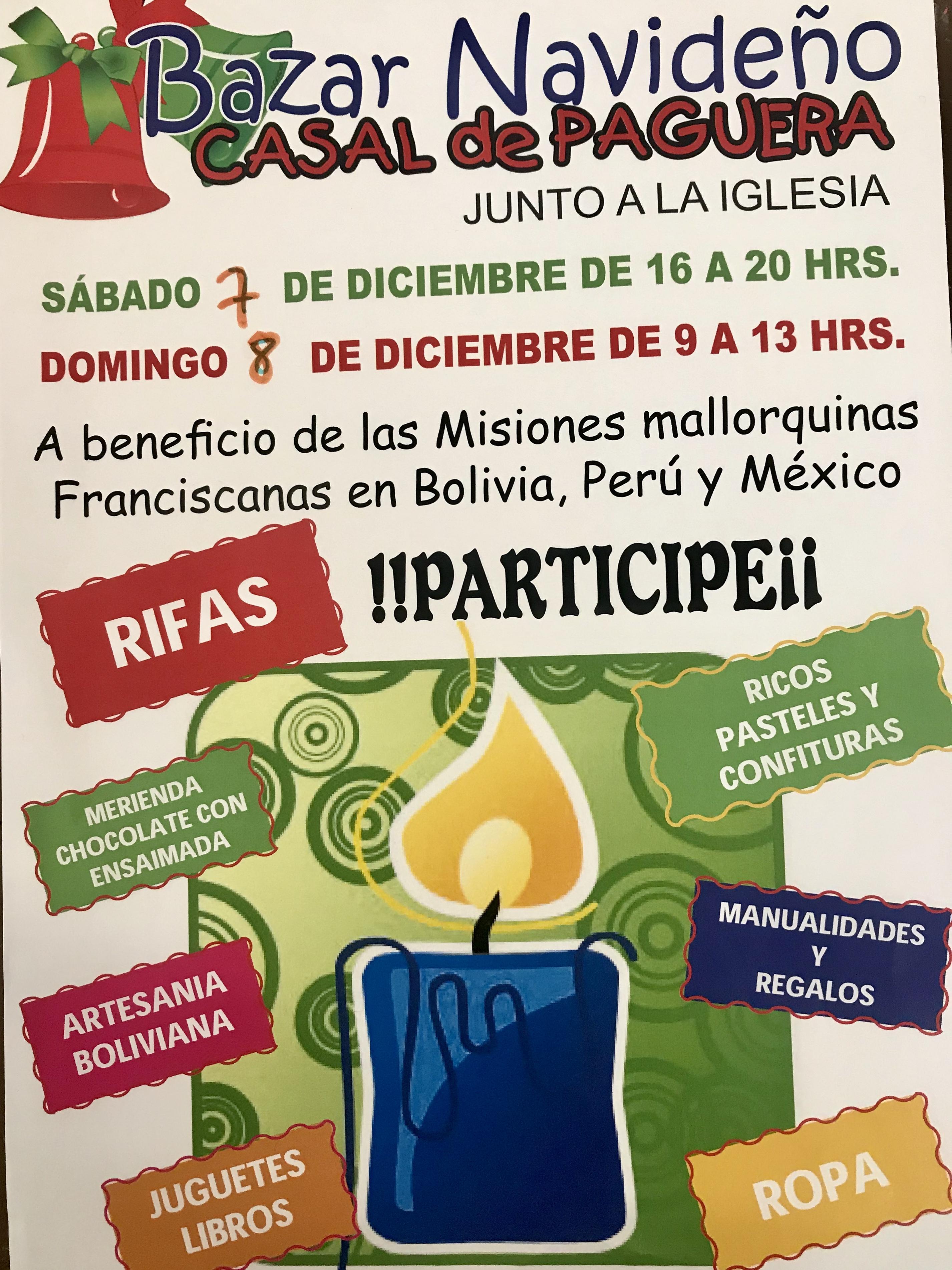 Bazar Navideño en Peguera, días 7 y 8 de diciembre