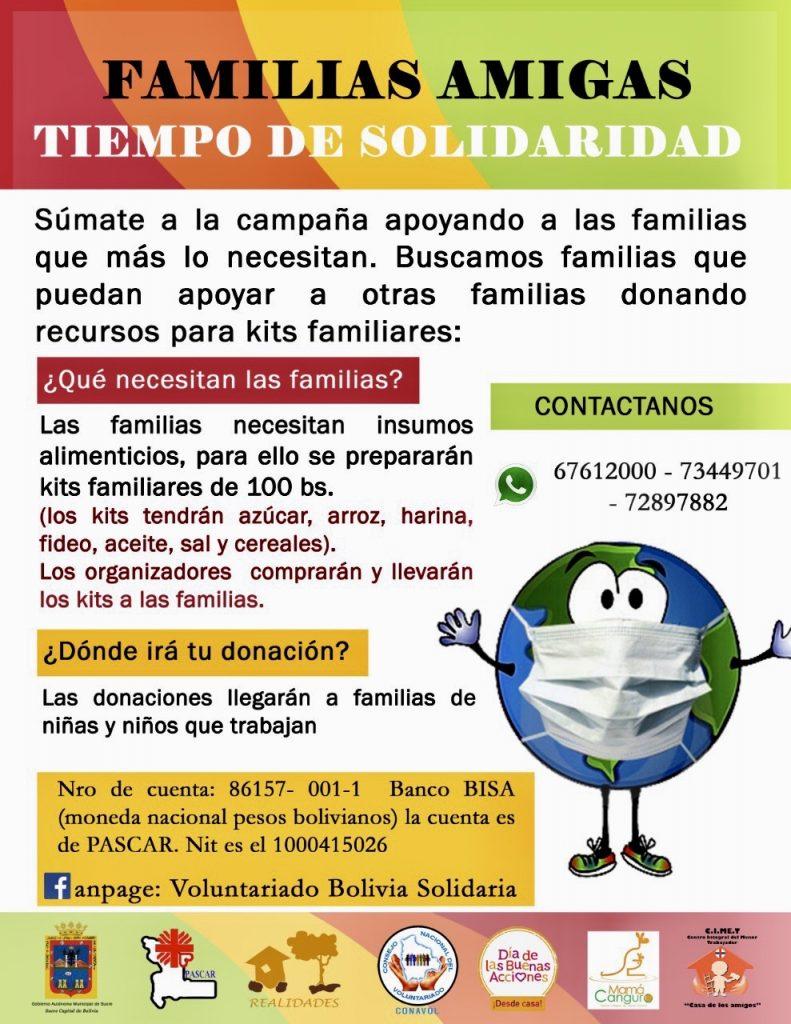 Tiempo de solidaridad en Sucre (Bolivia)