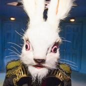 ALICE'S ADVENTURES UNDERGROUND. Tom Syms (White Rabbit). Photo by Tristram Kenton
