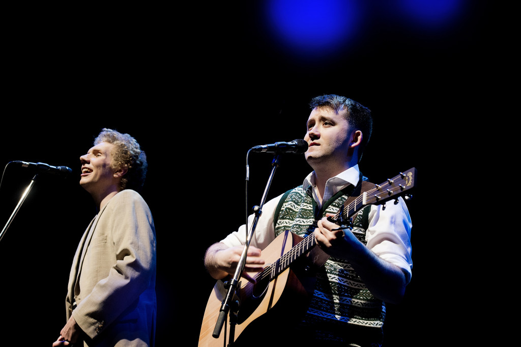 Charles Blyth & Sam O'Hanlon (l-r) in The Simon & Garfunkel Story. Photo by Jacqui Wilson 0254