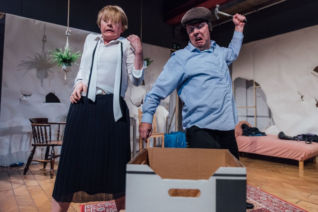 Karen Ascoe & David Schaal (l-r) in Rabbits at Park Theatre. Photo by David Monteith-Hodge 138