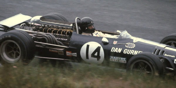 Dan Gurney in the 1966 F1 Eage at the Nurburgring in 1966.  Released by Jim Culp under Creative Commons (CC BY-NC 2.0).