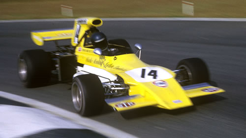 Mike Beuttler in the March 721G at Nivelles in 1972.  Copyright The GP Library 2009.  Used with permission.