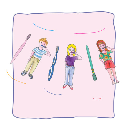 Artwork from the book - What to do with a Used Toothbrush by Mel Rosenberg - מל רוזנברג - Illustrated by Tali Niv-Dolinsky - Ourboox.com