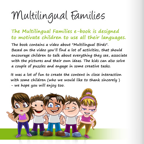 Artwork from the book - Multilingual Families eStory book for children 0-6 by Multilingual Families - Ourboox.com