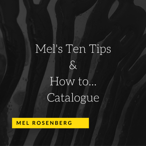 Artwork from the book - Mel's Ten Tips & How to… Catalogue by Mel Rosenberg - מל רוזנברג - Ourboox.com